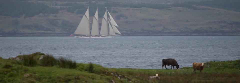The luxury schooner, Adix